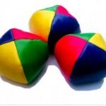 boules multicolores tissu